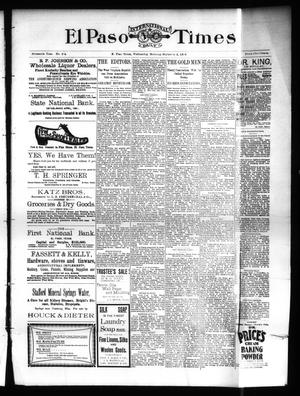 Primary view of object titled 'El Paso International Daily Times (El Paso, Tex.), Vol. SIXTEENTH YEAR, No. 214, Ed. 1 Wednesday, September 2, 1896'.