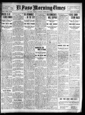 Primary view of object titled 'El Paso Morning Times (El Paso, Tex.), Vol. 31, Ed. 1 Tuesday, February 7, 1911'.