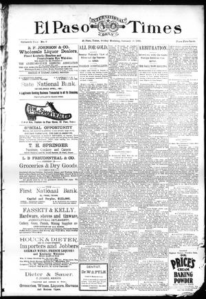 Primary view of El Paso International Daily Times (El Paso, Tex.), Vol. Sixteenth Year, No. 9, Ed. 1 Friday, January 10, 1896