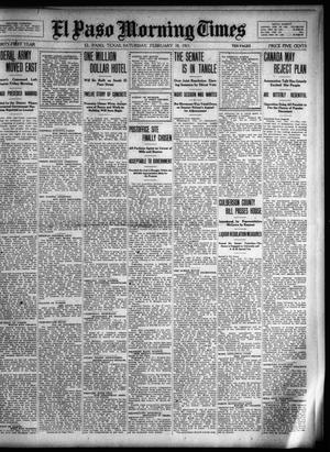 Primary view of object titled 'El Paso Morning Times (El Paso, Tex.), Vol. 31, Ed. 1 Saturday, February 18, 1911'.