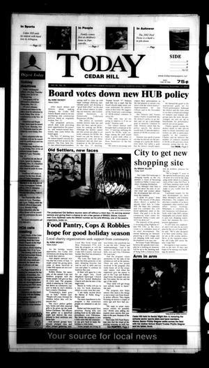 Primary view of Today Cedar Hill (Duncanville, Tex.), Vol. 36, No. 35, Ed. 1 Thursday, November 15, 2001