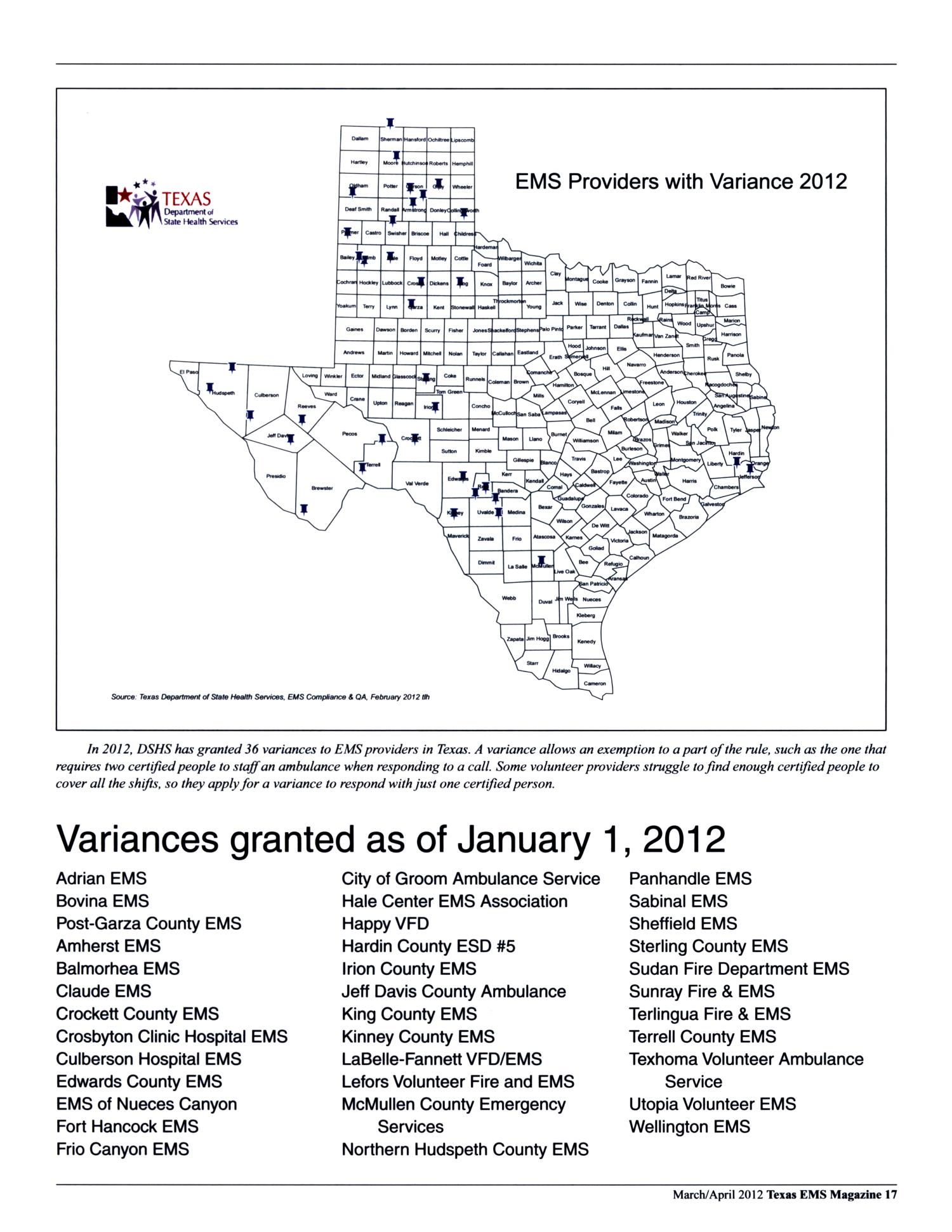 Texas Ems Magazine Volume 33 Number 2 Marchapril 2012 Page 17
