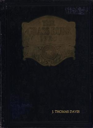 Primary view of object titled 'The Grassburr, Yearbook of John Tarleton Agricultural College, 1929'.