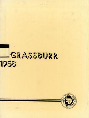 Primary view of object titled 'The Grassburr, Yearbook of Tarleton State College, 1958'.