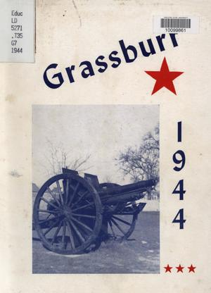 Primary view of object titled 'The Grassburr, Yearbook of John Tarleton Agricultural College, 1944'.