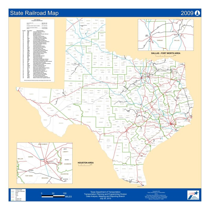 Map Of Texas Railroads.Texas State Railroad Map 2009 The Portal To Texas History