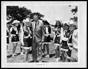 Primary view of object titled 'Man With Girls Drill Team'.