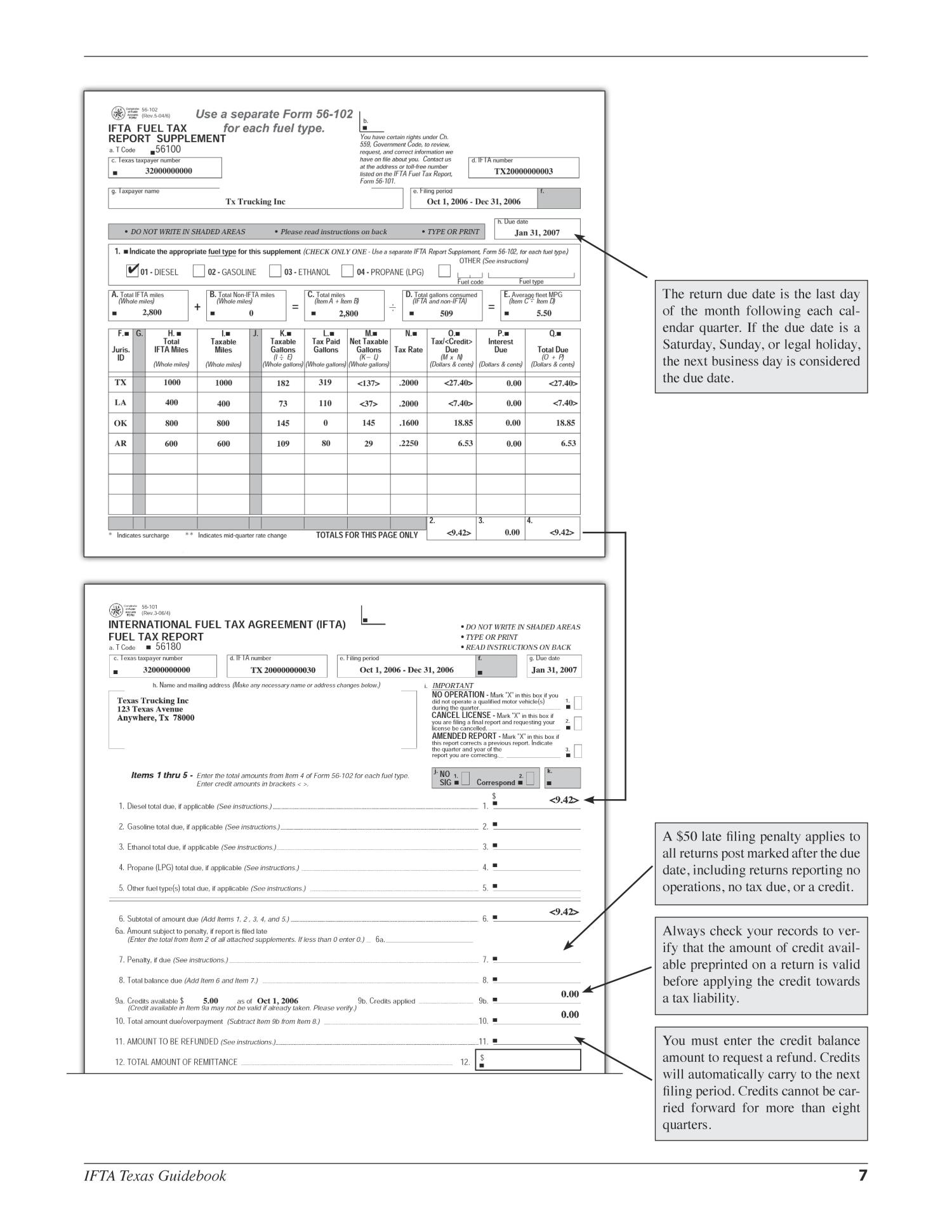 International Fuel Tax Agreement Texas Guidebook Page 7