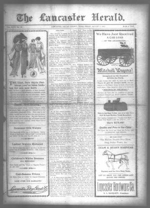 Primary view of object titled 'The Lancaster Herald. (Lancaster, Tex.), Vol. 27, No. 27, Ed. 1 Friday, August 1, 1913'.