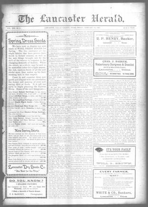 Primary view of object titled 'The Lancaster Herald. (Lancaster, Tex.), Vol. 22, No. 2, Ed. 1 Friday, February 12, 1909'.