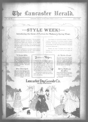 Primary view of object titled 'The Lancaster Herald. (Lancaster, Tex.), Vol. 30, No. 7, Ed. 1 Friday, March 10, 1916'.