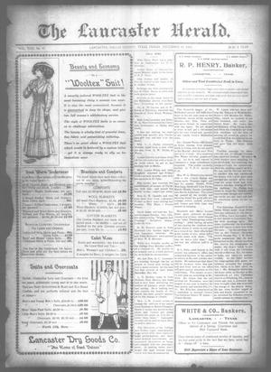 Primary view of object titled 'The Lancaster Herald. (Lancaster, Tex.), Vol. 22, No. 45, Ed. 1 Friday, December 10, 1909'.