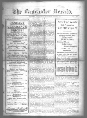 Primary view of object titled 'The Lancaster Herald. (Lancaster, Tex.), Vol. 28, No. 50, Ed. 1 Friday, January 8, 1915'.