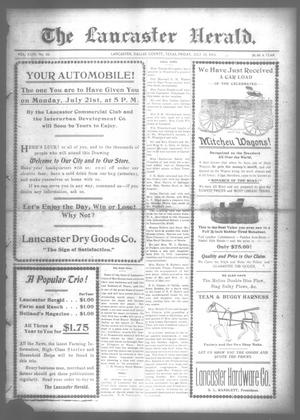 Primary view of object titled 'The Lancaster Herald. (Lancaster, Tex.), Vol. 27, No. 25, Ed. 1 Friday, July 18, 1913'.