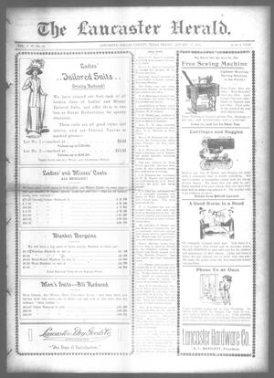 Primary view of object titled 'The Lancaster Herald. (Lancaster, Tex.), Vol. 26, No. 51, Ed. 1 Friday, January 17, 1913'.