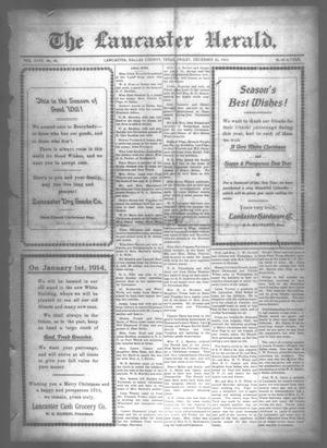 Primary view of object titled 'The Lancaster Herald. (Lancaster, Tex.), Vol. 27, No. 48, Ed. 1 Friday, December 26, 1913'.