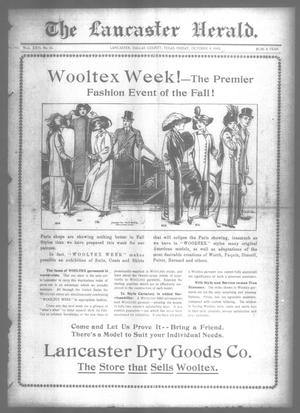 Primary view of object titled 'The Lancaster Herald. (Lancaster, Tex.), Vol. 26, No. 36, Ed. 1 Friday, October 4, 1912'.