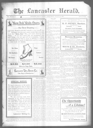 Primary view of object titled 'The Lancaster Herald. (Lancaster, Tex.), Vol. 21, No. 30, Ed. 1 Friday, August 21, 1908'.