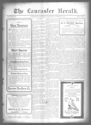 Primary view of object titled 'The Lancaster Herald. (Lancaster, Tex.), Vol. 22, No. 41, Ed. 1 Friday, November 12, 1909'.