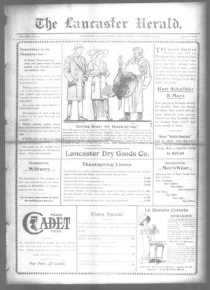 Primary view of object titled 'The Lancaster Herald. (Lancaster, Tex.), Vol. 26, No. 43, Ed. 1 Friday, November 22, 1912'.