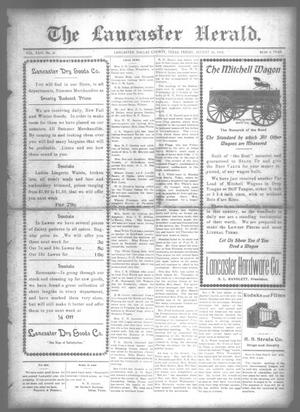 Primary view of object titled 'The Lancaster Herald. (Lancaster, Tex.), Vol. 26, No. 31, Ed. 1 Friday, August 30, 1912'.