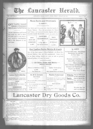 Primary view of object titled 'The Lancaster Herald. (Lancaster, Tex.), Vol. 24, No. 51, Ed. 1 Friday, January 20, 1911'.