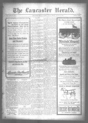 Primary view of object titled 'The Lancaster Herald. (Lancaster, Tex.), Vol. 27, No. 28, Ed. 1 Friday, August 8, 1913'.