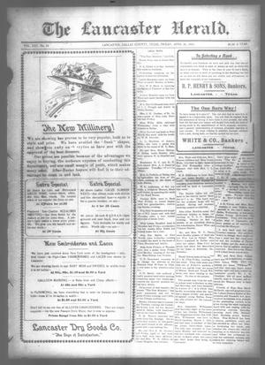 Primary view of object titled 'The Lancaster Herald. (Lancaster, Tex.), Vol. 25, No. 12, Ed. 1 Friday, April 21, 1911'.