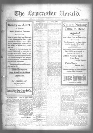 Primary view of object titled 'The Lancaster Herald. (Lancaster, Tex.), Vol. 30, No. 33, Ed. 1 Friday, September 8, 1916'.