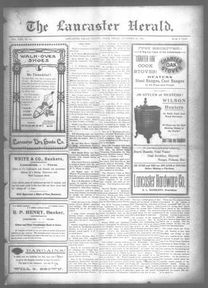 Primary view of object titled 'The Lancaster Herald. (Lancaster, Tex.), Vol. 22, No. 43, Ed. 1 Friday, November 26, 1909'.