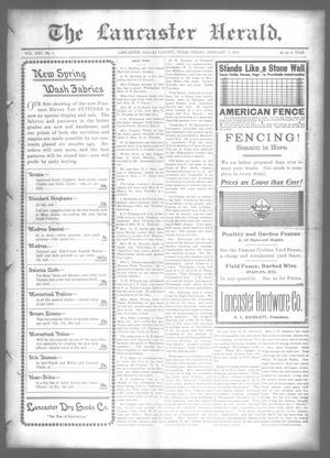 Primary view of object titled 'The Lancaster Herald. (Lancaster, Tex.), Vol. 25, No. 1, Ed. 1 Friday, February 3, 1911'.