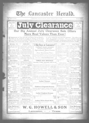 Primary view of object titled 'The Lancaster Herald. (Lancaster, Tex.), Vol. 35, No. 26, Ed. 1 Friday, July 15, 1921'.