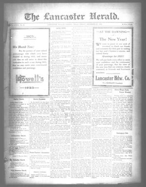 Primary view of object titled 'The Lancaster Herald. (Lancaster, Tex.), Vol. 36, No. 49, Ed. 1 Friday, December 29, 1922'.