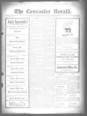 Primary view of object titled 'The Lancaster Herald. (Lancaster, Tex.), Vol. 35, No. 25, Ed. 1 Friday, July 8, 1921'.