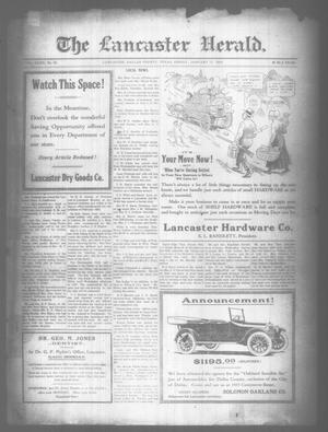 Primary view of object titled 'The Lancaster Herald. (Lancaster, Tex.), Vol. 32, No. 52, Ed. 1 Friday, January 17, 1919'.