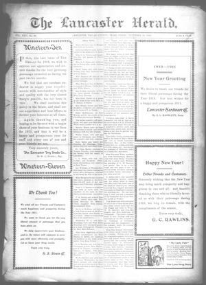 Primary view of object titled 'The Lancaster Herald. (Lancaster, Tex.), Vol. 24, No. 48, Ed. 1 Friday, December 30, 1910'.