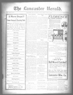 Primary view of object titled 'The Lancaster Herald. (Lancaster, Tex.), Vol. 36, No. 26, Ed. 1 Friday, July 14, 1922'.