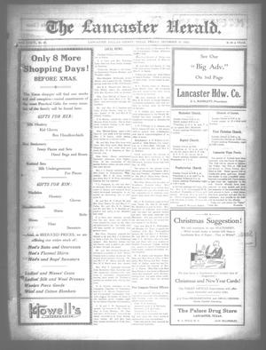 Primary view of object titled 'The Lancaster Herald. (Lancaster, Tex.), Vol. 36, No. 48, Ed. 1 Friday, December 15, 1922'.