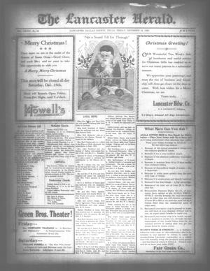 Primary view of object titled 'The Lancaster Herald. (Lancaster, Tex.), Vol. 34, No. 49, Ed. 1 Friday, December 24, 1920'.