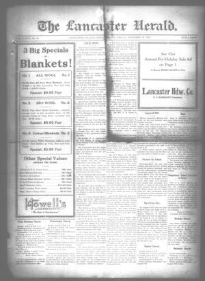 Primary view of object titled 'The Lancaster Herald. (Lancaster, Tex.), Vol. 37, No. 43, Ed. 1 Friday, November 16, 1923'.