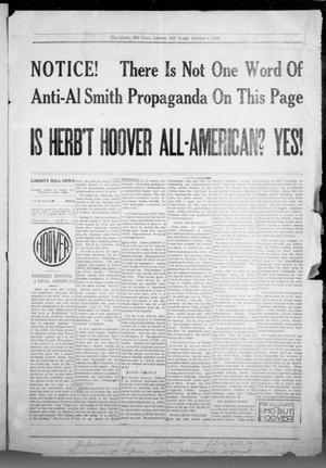 Primary view of object titled 'The Liberty Hill News (Liberty Hill, Tex.), Ed. 1 Thursday, October 4, 1928'.