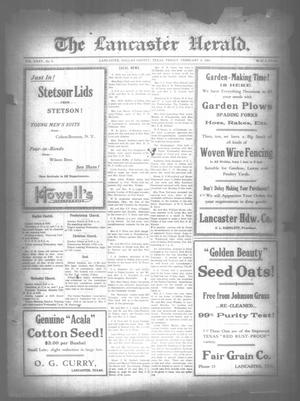 Primary view of The Lancaster Herald. (Lancaster, Tex.), Vol. 35, No. 3, Ed. 1 Friday, February 4, 1921