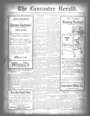 Primary view of object titled 'The Lancaster Herald. (Lancaster, Tex.), Vol. 34, No. 30, Ed. 1 Friday, August 13, 1920'.