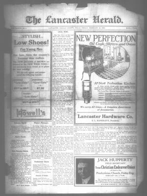 Primary view of object titled 'The Lancaster Herald. (Lancaster, Tex.), Vol. 37, No. 4, Ed. 1 Friday, February 16, 1923'.