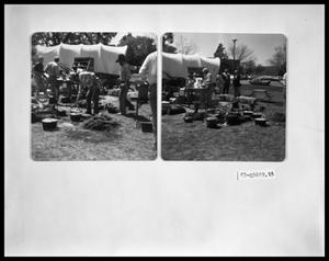 Primary view of object titled 'Chuckwagon With Campfire'.