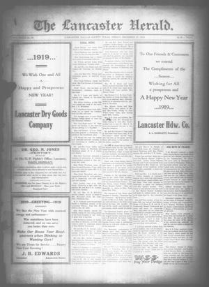 Primary view of object titled 'The Lancaster Herald. (Lancaster, Tex.), Vol. 32, No. 49, Ed. 1 Friday, December 27, 1918'.