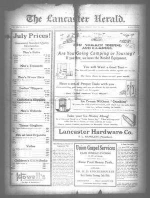 Primary view of object titled 'The Lancaster Herald. (Lancaster, Tex.), Vol. 37, No. 25, Ed. 1 Friday, July 13, 1923'.