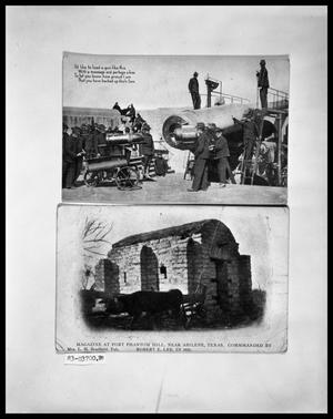 Primary view of object titled 'Postcard of Cannon; Postcard of Weapons Magazine'.