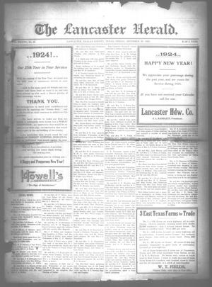 Primary view of object titled 'The Lancaster Herald. (Lancaster, Tex.), Vol. 37, No. 49, Ed. 1 Friday, December 28, 1923'.
