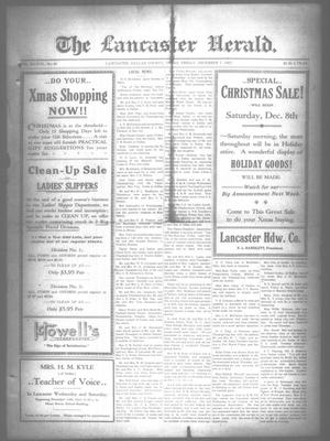 Primary view of object titled 'The Lancaster Herald. (Lancaster, Tex.), Vol. 37, No. 46, Ed. 1 Friday, December 7, 1923'.
